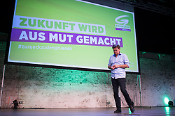 "06.07.2019, Expedithalle, Wien, AUT, Die Grünen, 41. Bundeskongress mit der Wahl der KandidatInnen zur Nationalratswahl 2019 unter dem Motto ""Zukunft wird aus Mut gemacht"". im Bild Grünen Chef und Spitzenkanidat Werner Kogler // Topcandidate Werner Kogler during convention of the Austrian Greens due to Austrian General Elections 2019 in Vienna, Austria on 2019/07/06. EXPA Pictures © 2019, PhotoCredit: EXPA/ Michael Gruber"