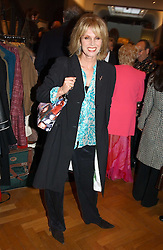 JOANNA LUMLEY at a party to celebrate the publication of an autobiography by the late Jack Rosenthal at The Fine Art Society, 148 New Bond Street, London W1 on 21st April 2005.<br />