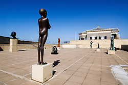 Modern art sculptures on display at Museum Beelden-aan-Zee in Scheveningen outside Den Hague in Holland
