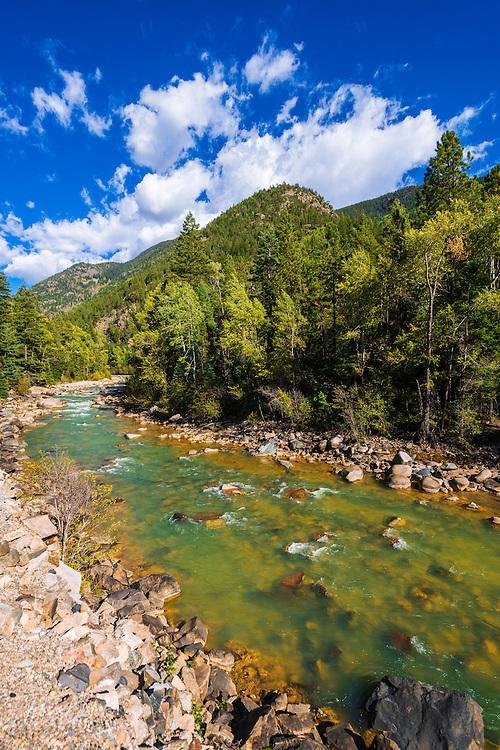 The Animas River, San Juan National Forest, Colorado USA