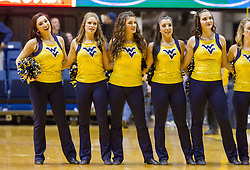 Nov 11, 2016; Morgantown, WV, USA; The West Virginia Mountaineers dance team celebrates after beating Mount St. Mary's Mountaineers at WVU Coliseum. Mandatory Credit: Ben Queen-USA TODAY Sports