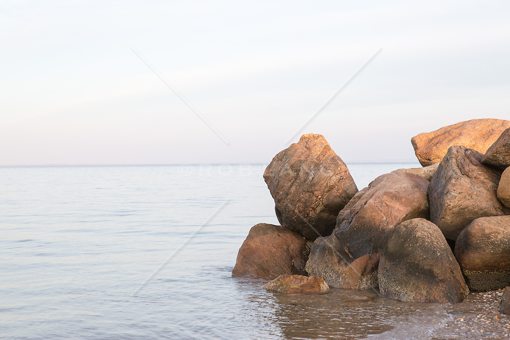 large rocks by the bay in East Hampton, NY