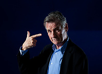 A portrait of Michael Palin in the Edinburgh International Book Festival  2012 is sited in Charlotte Square Gardens. <br /> <br /> Pic by Pako Mera