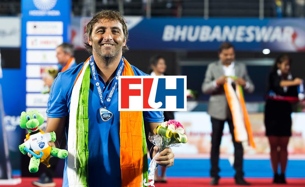 BHUBANESWAR - coach Carlos Retegui (Arg)  Hockey World League finals , Final Australia-Argentina (2-1) . Australia wint de finale. COPYRIGHT KOEN SUYK
