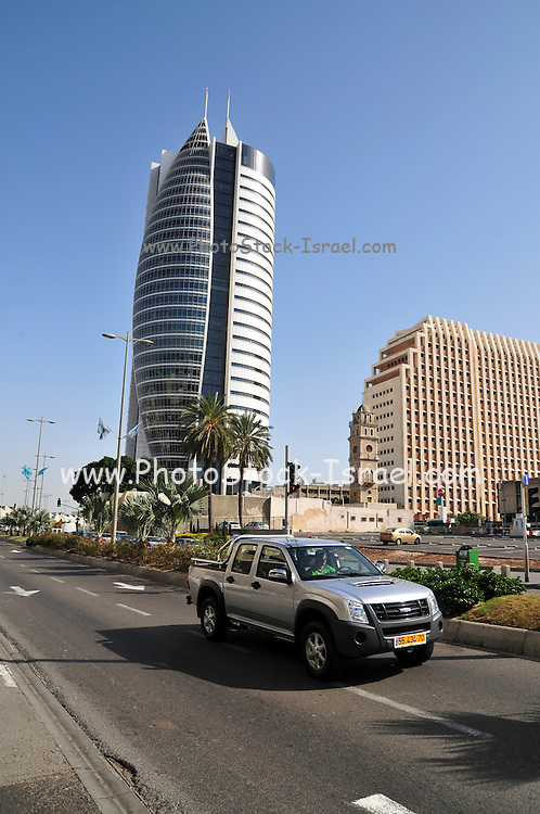 Israel, Haifa, The Sail Tower highrise on the left