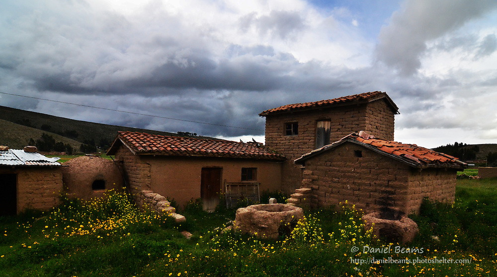 Adobe house in Vacas, Cochabamba, Bolivia
