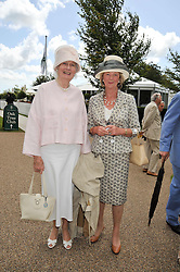 Left to right, BRONWEN, VISCOUNTESS ASTOR and LADY NICHOLAS GORDON-LENNOX at the 3rd day of the 2009 Glorious Goodwood racing festival held at Goodwood Racecourse, West Sussex on 30th July 2009.