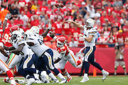 KANSAS CITY, MO - SEPTEMBER 30: Philip Rivers #17 of the San Diego Chargers passes the football against the Kansas City Chiefs during the game at Arrowhead Stadium on September 30, 2012 in Kansas City, Missouri. The Chargers won 37-20. (Photo by Joe Robbins) *** Local Caption *** Philip Rivers