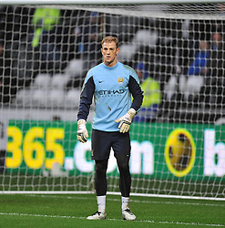 Manchester City's Joe Hart warms up before the game. - Photo mandatory by-line: Alex James/JMP - Tel: Mobile: 07966 386802 01/01/2014 - SPORT - FOOTBALL - Liberty Stadium - Swansea - Swansea City v Manchester City - Barclays Premier League