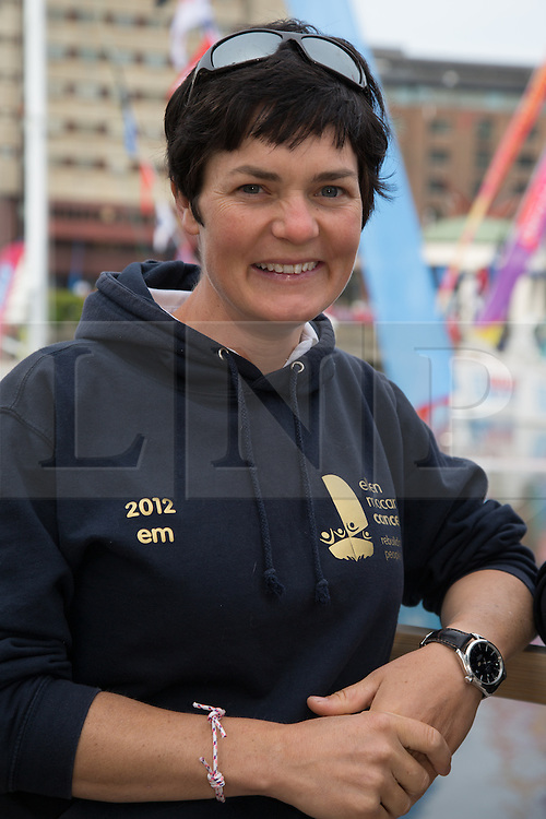 © Licensed to London News Pictures. 01/09/2013. London, UK. Dame Ellen MacArthur at St Katharine Docks ahead of the official start. The Clipper 2013-14 Round the World Yacht Race departs from St Katharine Docks on the River Thames.  Photo credit : Vickie Flores/LNPPhoto credit : Vickie Flores/LNP