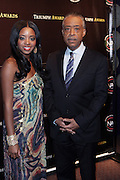 New York, NY-October 19:  l to r: National Executive Director, National Action Network, Tamika Mallory and Rev. Al Sharpton at the 2nd Annual National Action Network's Triumph Awards in the Arts, Entertainment & Sports held at Jazz at Lincoln Center on October 19, 2011 in New York City. Photo Credit: Terrence Jennings