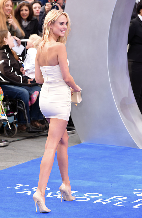 Kimberley Garner attends Disney's Tomorrowland -  A World Beyond UK film premiere at Odeon Cinema, Leicester Square, London on Sunday May 17, 2015