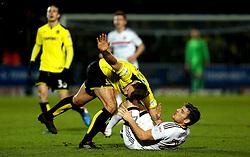 Chris Martin of Fulham tangles with Ben Turner of Burton Albion - Mandatory by-line: Robbie Stephenson/JMP - 01/02/2017 - FOOTBALL - Pirelli Stadium - Burton Upon Trent, England - Burton Albion v Fulham - Sky Bet Championship
