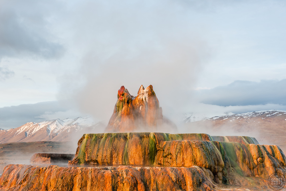 """""""Fly Geyser 5"""" - Photograph of the famous man made Fly Geyser in Nevada."""