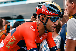 Vincenzo Nibali (ITA) of Bahrain Merida (BAH,WT,Merida) after stage 1 from Bruxelles to Brussel of the 106th Tour de France, 6 July 2019. Photo by Pim Nijland / PelotonPhotos.com | All photos usage must carry mandatory copyright credit (Peloton Photos | Pim Nijland)