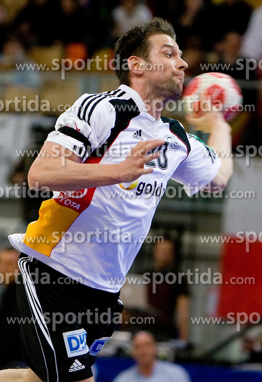 Christian Sprenger of Germany during the Men's Handball European Championship Main Round match between Germany and France at the Olympia Hall on January 24, 2009 in Innsbruck, Austria. (Photo by Vid Ponikvar / Sportida) - on January 2010