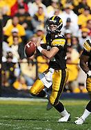 18 OCTOBER 2008: Iowa quarterback Ricky Stanzi (12) in the first half of an NCAA college football game against Wisconsin, at Kinnick Stadium in Iowa City, Iowa on Saturday Oct. 18, 2008. Iowa won 38-16.