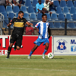 DURBAN, SOUTH AFRICA - MAY 01: Mlondi Dlamini of Maritzburg Utd on attack during the Absa Premiership match between Maritzburg United and Cape Town City FC at Harry Gwala Stadium on May 01, 2017 in Durban, South Africa. (Photo by Steve Haag/Gallo Images)