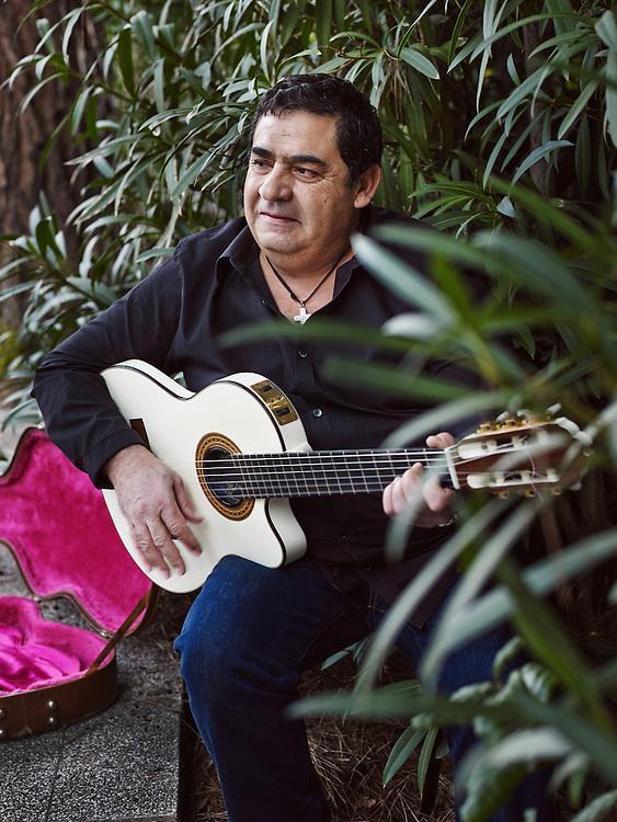 TOULOUSE, FRANCE. DECEMBER 18, 2013. Tonino Baliardo, lead guitarist of the Gipsy Kings, at home. Photo: Antoine Doyen
