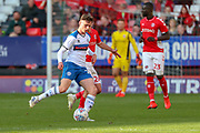 Rochdale midfielder Daniel Adshead (25) passing the ball during the EFL Sky Bet League 1 match between Charlton Athletic and Rochdale at The Valley, London, England on 4 May 2019.