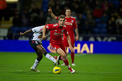 BOLTON, ENGLAND - Saturday, January 21, 2011: Liverpool's Jordan Henderson in action against Bolton Wanderers during the Premiership match at the Reebok Stadium. (Pic by David Rawcliffe/Propaganda)