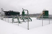 Fracking compressor and well site at Gans, Pennsylvania