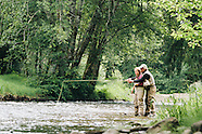 Necanicum River Fly Fishing Photos - Stock images