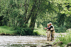 Necanicum River Fly Fishing Photos - Stock images