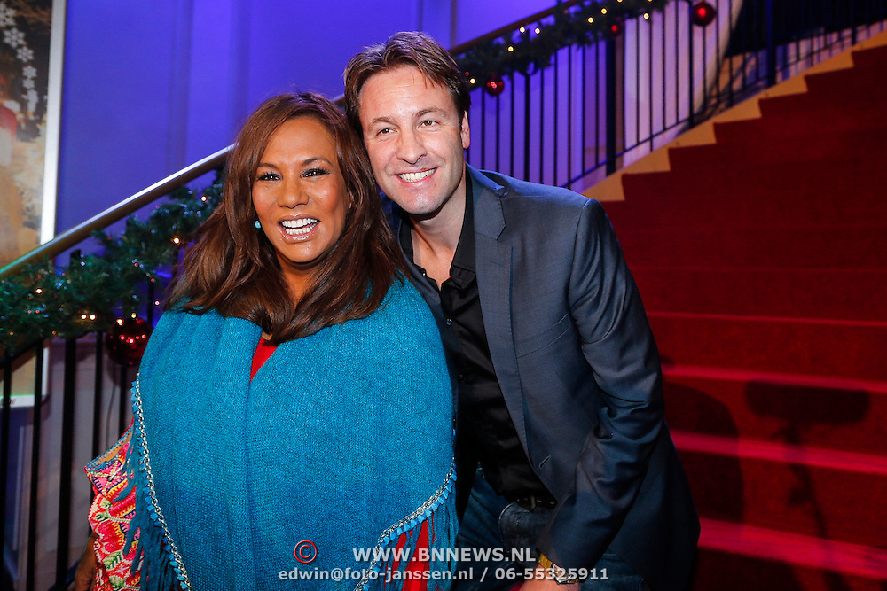 NLD/Hilversum/20121207 - Skyradio Christmas Tree, Victor Brand en Patty Brard
