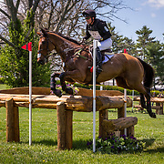 Waylon Roberts (CAN) and Kelecyn Cognac during the cross country phase of the 2018 Land Rover Kentucky Three-Day Event in Lexington, Kentucky.
