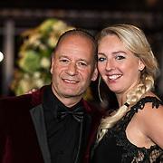 NLD/Amsterdam/20171012 - Televizier-Ring Gala 2017, Ron Boszhard en partner Emilie Rozenga