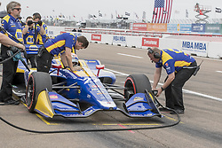 March 10, 2018 - St. Petersburg, Florida, United States of America - March 10, 2018 - St. Petersburg, Florida, USA: TAlexander Rossi (27) comes in after qualifying for the Firestone Grand Prix of St. Petersburg at Streets of St. Petersburg in St. Petersburg, Florida. (Credit Image: © Walter G Arce Sr Asp Inc/ASP via ZUMA Wire)
