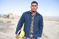 Construction worker on site, portrait