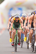 Brendan Sexton AUS.Mens ITU Race.2011 Dextro Energy Triathlon ITU World Championship Sydney.Sydney, New South Wales, Australia..Hosted By USM Events.Proudly Supported By Asics, Dextro, Suunto, Events New South Wales, Subaru, USM Events..10/04/2011.Photo Lucas Wroe