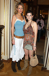 Left to right, KATE MELHUISH and MARTHA FREUD at a fashion show featuring the Miss Selfridge Autumn/Winter '05 collections held at The Wallace Collection, Manchester Square, London W1 on 6th April 2005.<br />