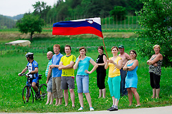 Spectators during Stage 4 from Brezice to Novo mesto (155,8 km) of cycling race 20th Tour de Slovenie 2013,  on June 16, 2013 in Slovenia. (Photo By Vid Ponikvar / Sportida)
