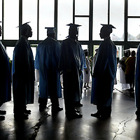 (COMMUNITY)  Asbury Park 6/20/2002 Asbury Park High School students wait for the start of there commencement exercises.      Michael J. Treola Staff Photographer......MJT