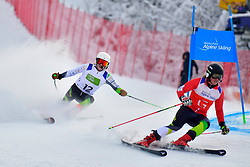 JENSEN Patrick Guide: OFFORD Zali, B2, AUS, Men's Giant Slalom at the WPAS_2019 Alpine Skiing World Championships, Kranjska Gora, Slovenia