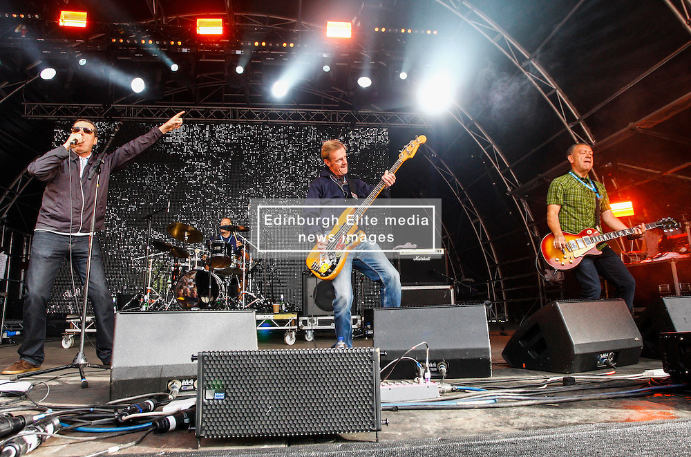 Pictured: Indie legends The Farm on the main stage at Party at the Palace in Linlithgiw. Andrew West/ EEm