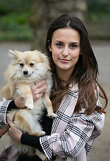 APR 05 2014 Lucy Watson launches Bark in the Park for Match.com