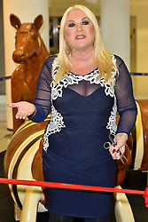 © Licensed to London News Pictures. 02/03/2016. VANESSA FELTZ celebrates the 40th Anniversary of Brent Cross shopping centre by unveiling animal sculptures. Brent Cross was the first US style shopping centre of its ind in the UK. London, UK. Photo credit: Ray Tang/LNP