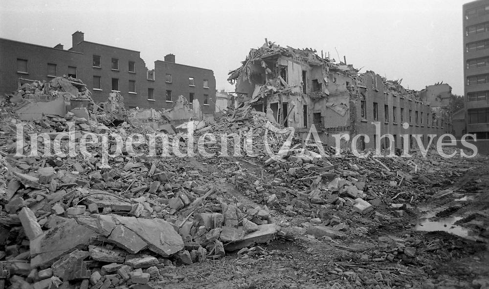 Demolition of the Inner-City in Sean McDermott Street, Dublin, 01/08/1982 (Part of the Independent Newspapers Ireland/NLI Collection).