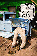Travel art on historic Route 66, Seligman, Arizona USA