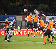 James McPake heads Dundee 2-1 ahead - Dundee v Dundee United - SPFL Premiership at Dens Park<br /> <br />  - &copy; David Young - www.davidyoungphoto.co.uk - email: davidyoungphoto@gmail.com