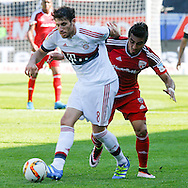 Mathew Leckie of FC Ingolstadt 04 and Javier Martinez of Bayern Munich during the Bundesliga match at Audi Sportpark, Ingolstadt<br /> Picture by EXPA Pictures/Focus Images Ltd 07814482222<br /> 07/05/2016<br /> ***UK &amp; IRELAND ONLY***<br /> EXPA-EIB-160507-0072.jpg