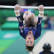 Gymnastics - Olympics: Day 2   Ruby Harrold #341 of Great Britain performing her routine on the Uneven Bars during the Artistic Gymnastics Women's Team Qualification round at the Rio Olympic Arena on August 7, 2016 in Rio de Janeiro, Brazil. (Photo by Tim Clayton/Corbis via Getty Images)