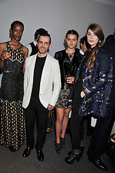 Left to right, NADJA GIRAMATA, KINDER AGGUGINI, CHLOE LECAREU and ? at the Vogue Festival 2012 in association with Vertu held at the Royal Geographical Society, London on 20th April 2012.