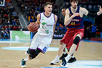 Unicaja's Nemanja Nedovic and FCB Lassa's Ante Tomic during Quarter Finals match of 2017 King's Cup at Fernando Buesa Arena in Vitoria, Spain. February 17, 2017. (ALTERPHOTOS/BorjaB.Hojas)