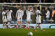 Dejected Leeds players at full time during the EFL Sky Bet Championship match between Leeds United and Sheffield Utd at Elland Road, Leeds, England on 27 October 2017. Photo by Paul Thompson.