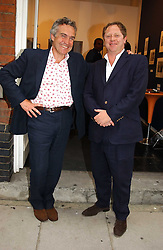 Left to right, STEPHEN BAYLEY and MICHAEL HOPPEN at an exhibition of photographs featuring Maserati cars held at the Michael Hoppen Gallery, 3 Jubilee Place, London SW3 on 13th July 2005.<br /><br />NON EXCLUSIVE - WORLD RIGHTS